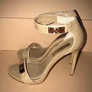 BCBGMaxAzria beige heels size 8